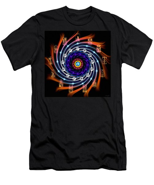 Celtic Tarot Moon Cycle Zodiac Men's T-Shirt (Athletic Fit)