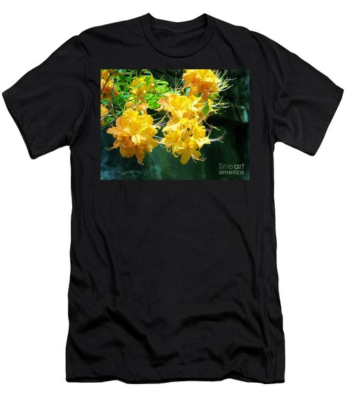 Centered Yellow Floral Men's T-Shirt (Athletic Fit)