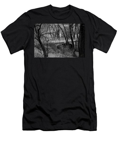 Central Park 2 Black And White Men's T-Shirt (Athletic Fit)
