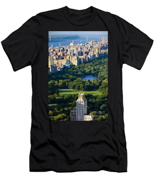 Men's T-Shirt (Athletic Fit) featuring the photograph Central Park by Brian Jannsen