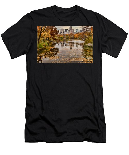 Central Park In The Fall New York City Men's T-Shirt (Athletic Fit)