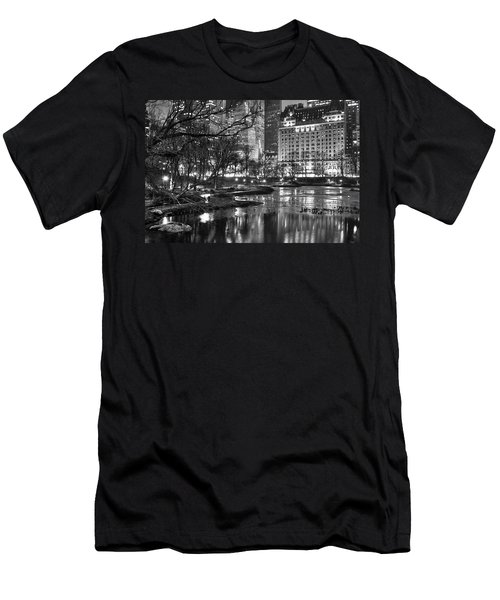 Central Park Lake Night Men's T-Shirt (Athletic Fit)