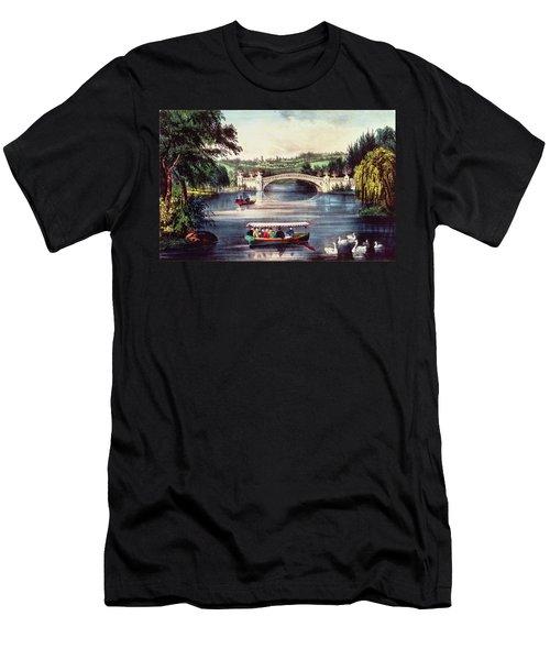 Central Park   The Bridge  Men's T-Shirt (Athletic Fit)