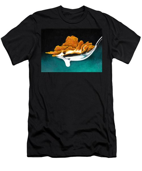 Cereal In Spoon With Milk Men's T-Shirt (Athletic Fit)