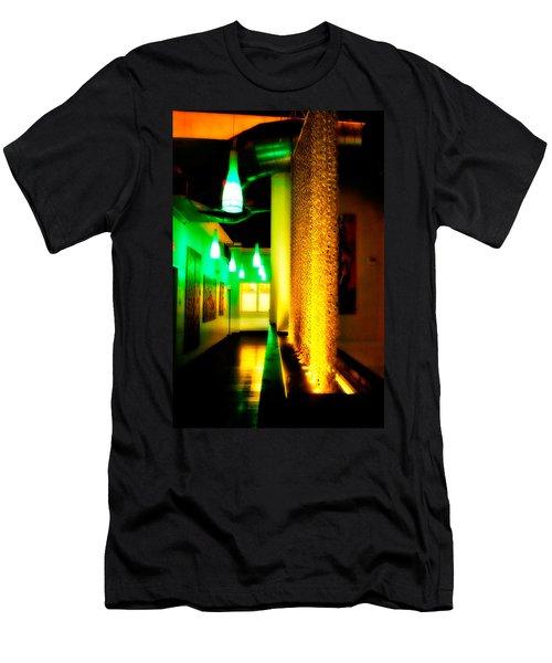 Chain Lighting Men's T-Shirt (Slim Fit) by Melinda Ledsome