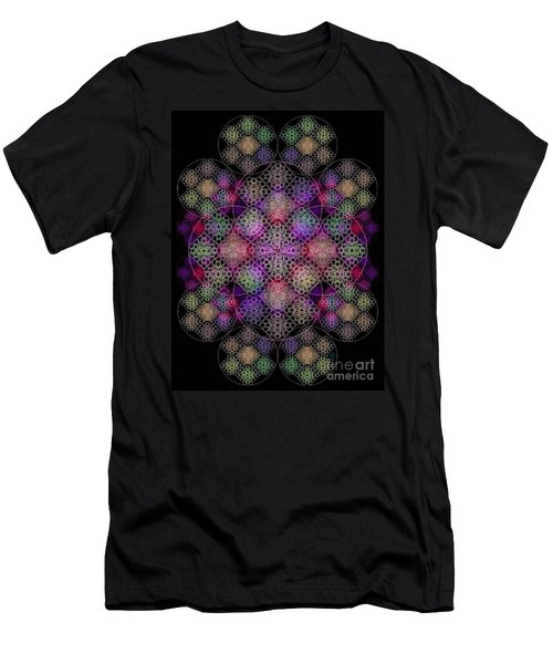 Men's T-Shirt (Slim Fit) featuring the digital art Chalice Cell Rings On Black Dk29 by Christopher Pringer
