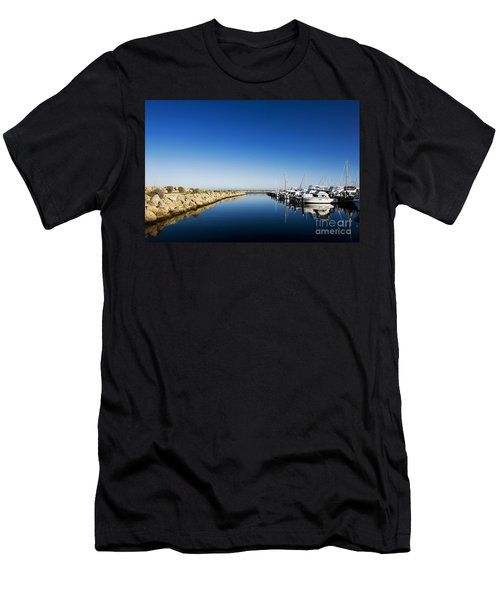 Men's T-Shirt (Athletic Fit) featuring the photograph Challenger Harbour Of Fremantle by Yew Kwang