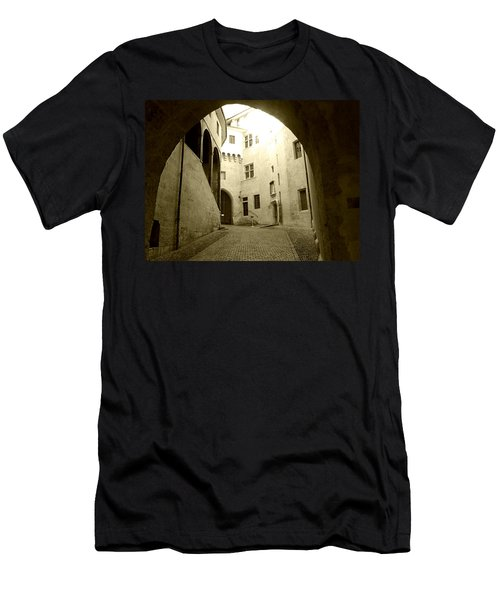 Chambery France Gate Men's T-Shirt (Slim Fit) by Katie Wing Vigil