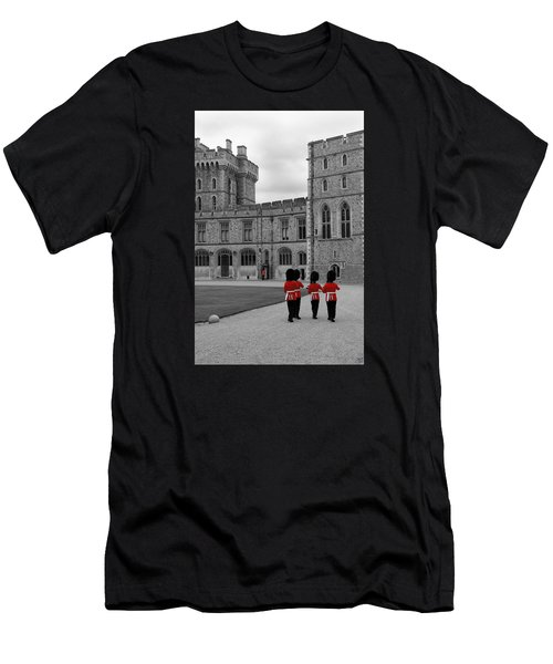Changing Of The Guard At Windsor Castle Men's T-Shirt (Athletic Fit)