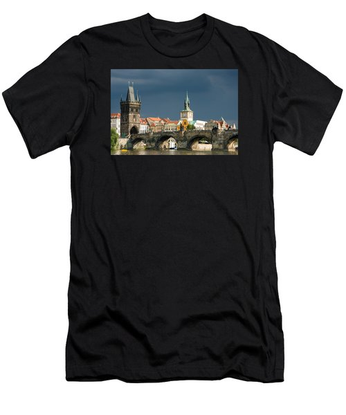 Charles Bridge Prague Men's T-Shirt (Athletic Fit)