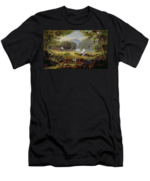 Charles Waterton Capturing A Cayman, 1825-26 Men's T-Shirt (Athletic Fit)