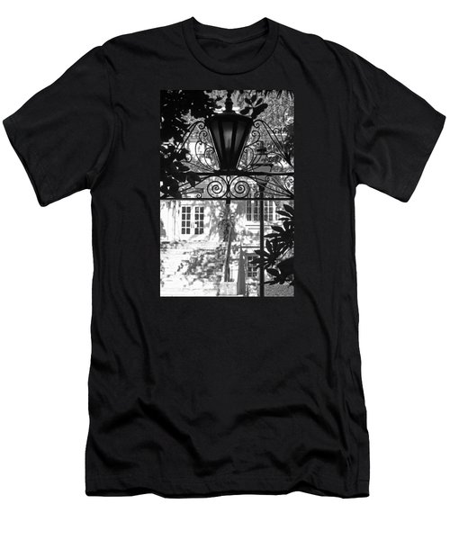 Charleston Gateway II In Black And White Men's T-Shirt (Athletic Fit)