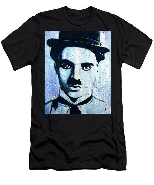 Charlie Chaplin Little Tramp Portrait Men's T-Shirt (Athletic Fit)