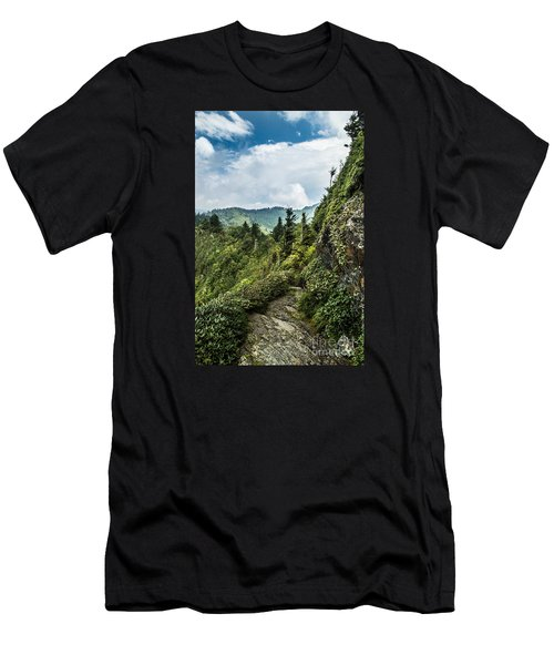 Men's T-Shirt (Slim Fit) featuring the photograph Charlies Bunion Trail by Debbie Green