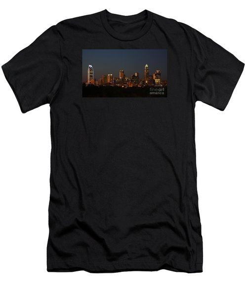Charlotte City Skyline At Sunset Men's T-Shirt (Slim Fit) by Kevin McCarthy