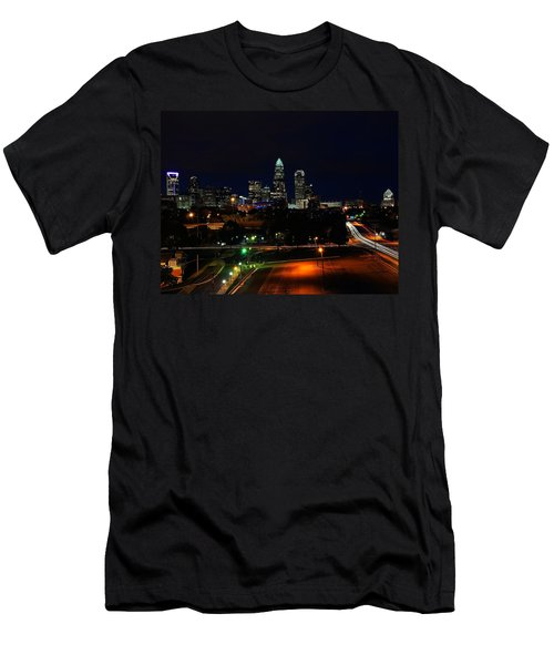 Charlotte Nc At Night Men's T-Shirt (Athletic Fit)