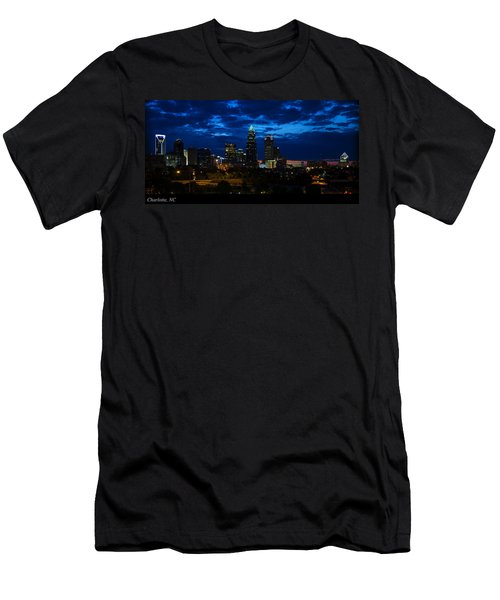 Charlotte North Carolina Panoramic Image Men's T-Shirt (Athletic Fit)