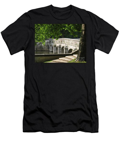 Chateau Chambord Bridge Men's T-Shirt (Slim Fit) by HEVi FineArt