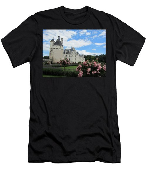 Men's T-Shirt (Slim Fit) featuring the photograph Chateau Chenonceau by Pema Hou