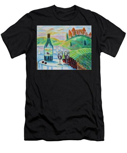 Chateau Wine Men's T-Shirt (Athletic Fit)