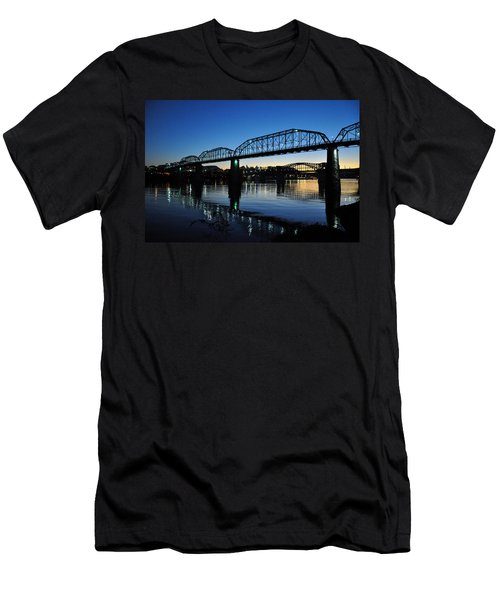 Tennessee River Bridges Chattanooga Men's T-Shirt (Athletic Fit)