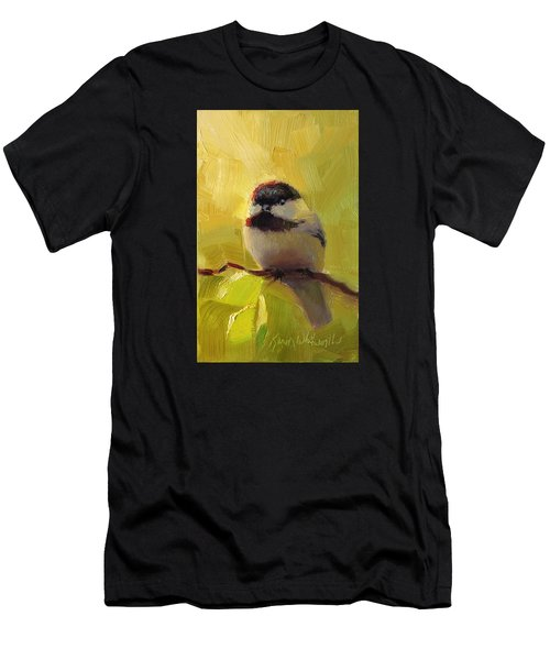 Chatty Chickadee - Cheeky Bird Men's T-Shirt (Athletic Fit)