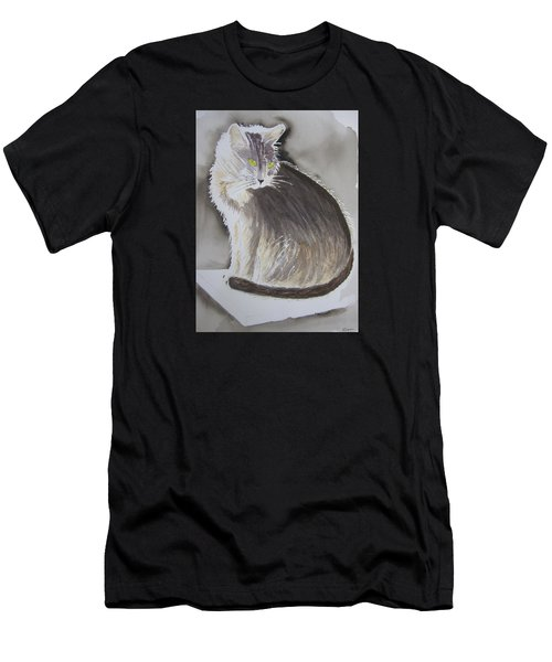 Cheeky Cat  Men's T-Shirt (Athletic Fit)
