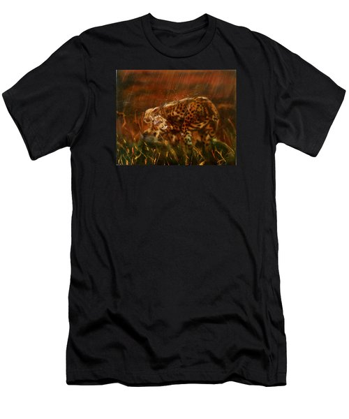 Cheetah Family After The Rains Men's T-Shirt (Athletic Fit)