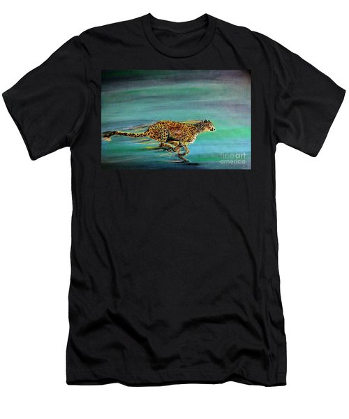 Cheetah Run Men's T-Shirt (Athletic Fit)