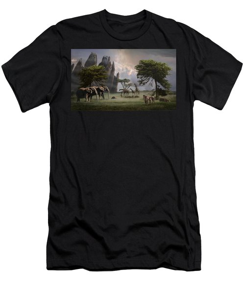 Cherish Our Earth's Creatures Men's T-Shirt (Athletic Fit)