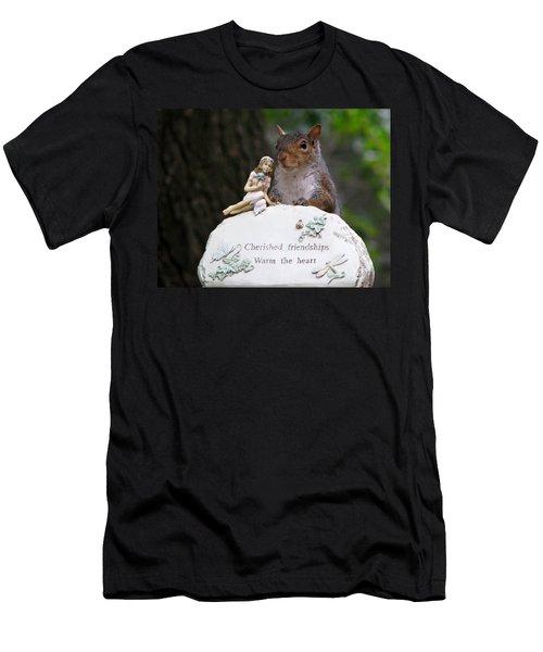 Men's T-Shirt (Slim Fit) featuring the photograph Cherished Friendships by John Haldane