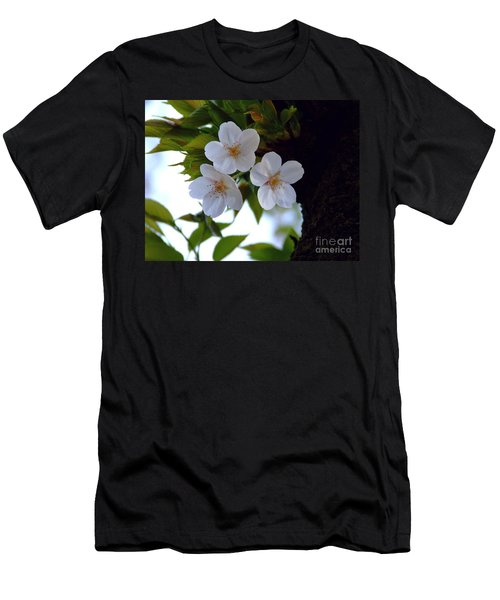 Men's T-Shirt (Slim Fit) featuring the photograph Cherry Blossom by Andrea Anderegg