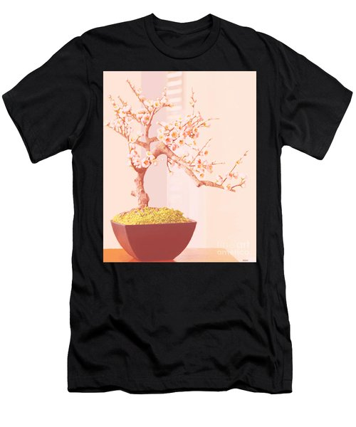 Cherry Bonsai Tree Men's T-Shirt (Athletic Fit)