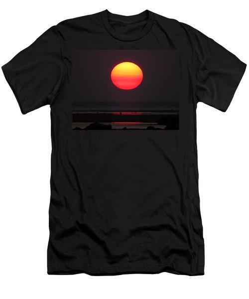 Men's T-Shirt (Slim Fit) featuring the photograph Cherry Drop Sunrise by Dianne Cowen