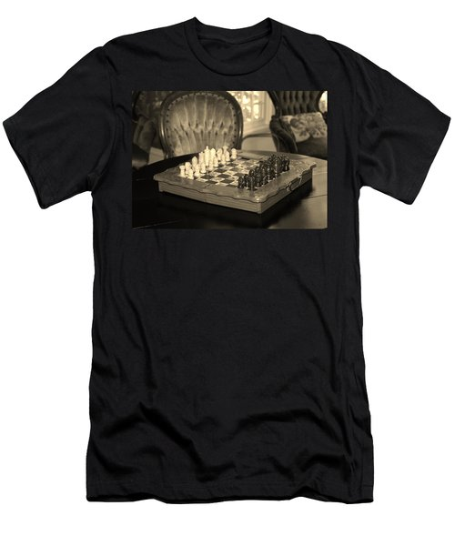 Men's T-Shirt (Slim Fit) featuring the photograph Chess Game by Cynthia Guinn