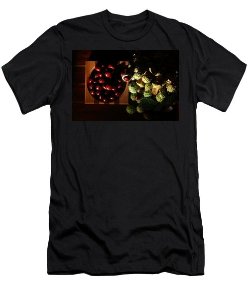 Men's T-Shirt (Slim Fit) featuring the photograph Chestnuts by David Andersen