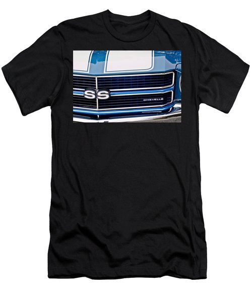 Chevrolet Chevelle Ss Grille Emblem 2 Men's T-Shirt (Slim Fit) by Jill Reger