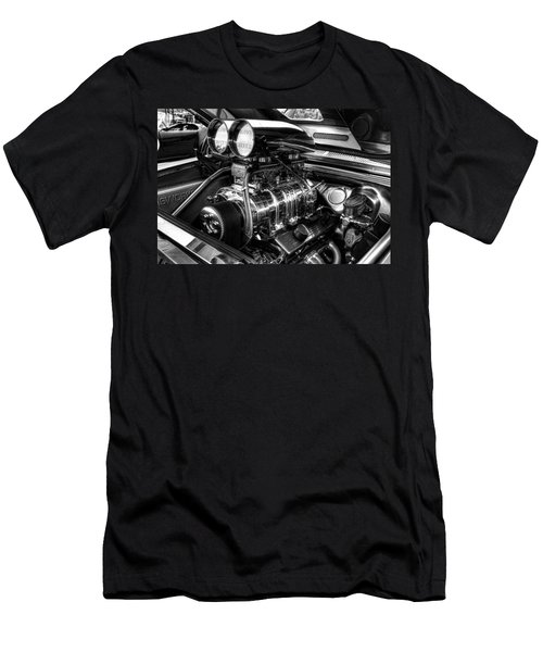 Chevy Supercharger Motor Black And White Men's T-Shirt (Athletic Fit)