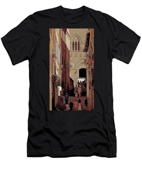 Chiaroscuro Siena  Men's T-Shirt (Slim Fit) by Ira Shander