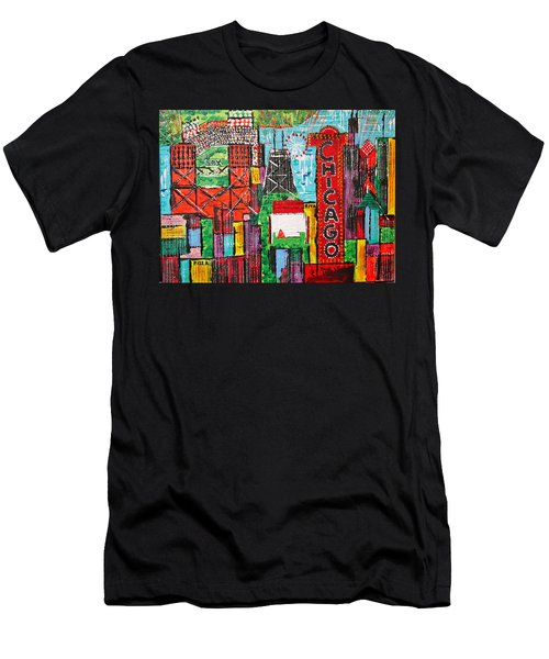 Chicago - City Of Fun - Sold Men's T-Shirt (Athletic Fit)