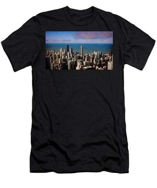 Chicago Before Sunset Men's T-Shirt (Athletic Fit)