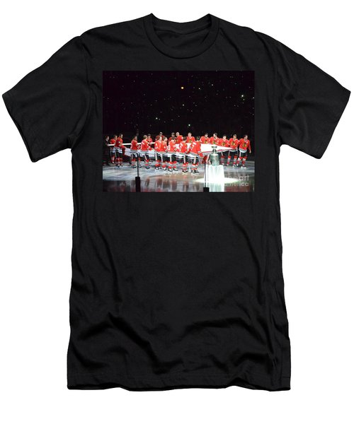Chicago Blackhawks And The Banner Men's T-Shirt (Athletic Fit)