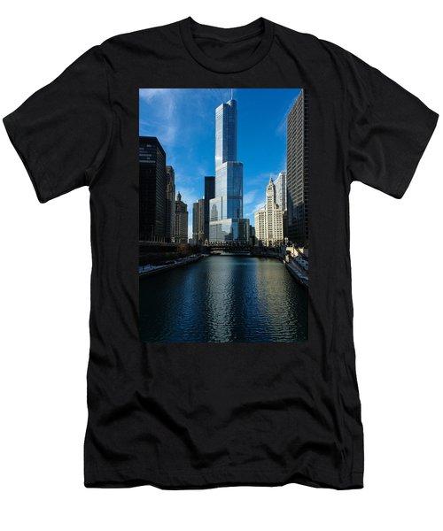 Men's T-Shirt (Slim Fit) featuring the photograph Chicago Blues by Georgia Mizuleva