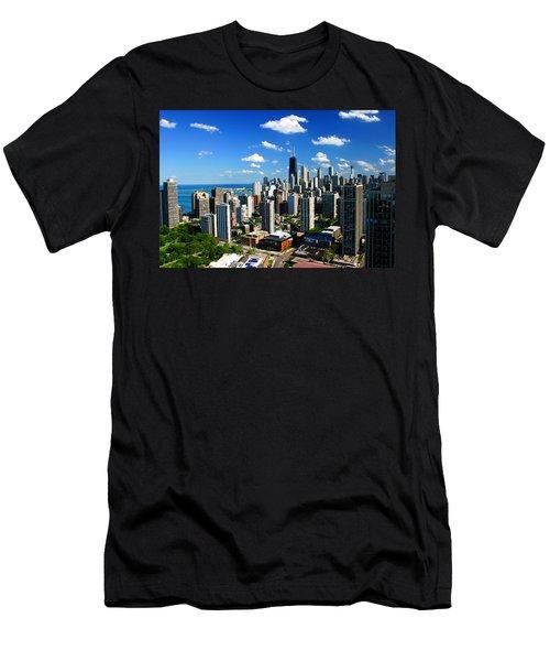 Chicago Buildings Skyline Clouds Men's T-Shirt (Athletic Fit)