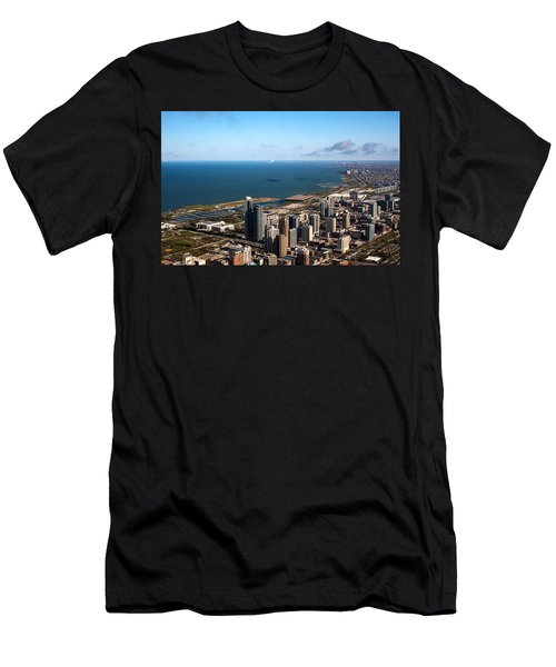 Chicago From Above Men's T-Shirt (Athletic Fit)