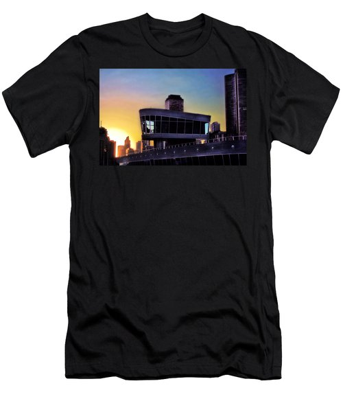 Men's T-Shirt (Slim Fit) featuring the photograph Chicago Lock Tower by John Hansen