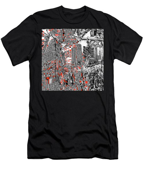 Chicago Map Abstract Men's T-Shirt (Athletic Fit)