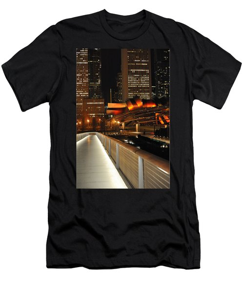 Chicago Millenium Park Men's T-Shirt (Slim Fit) by Steve Archbold
