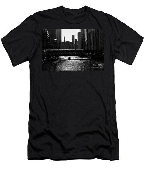 Chicago Morning Commute - Monochrome Men's T-Shirt (Athletic Fit)
