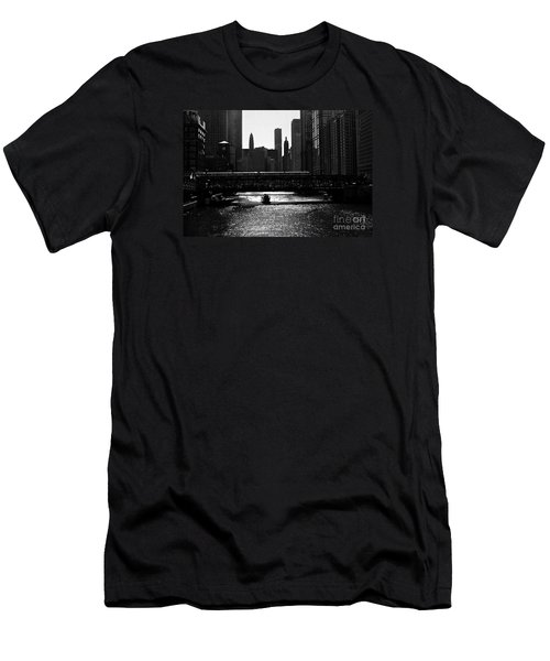 Chicago Morning Commute - Monochrome Men's T-Shirt (Athletic Fit)